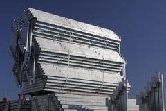 Costruzione rivestita dello zinco Fotografie Stock Libere da Diritti