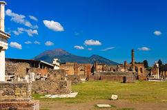 Costruzione rovinata a Pompei Fotografia Stock Libera da Diritti