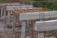 Costruzione rurale dei ponti concreti Fotografia Stock Libera da Diritti
