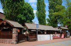 Costruzione rurale tradizionale, Balatonalmadi, Ungheria Fotografia Stock Libera da Diritti