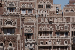 Costruzione a Sanaa, Yemen Fotografie Stock