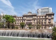 Costruzione Sao Paulo Brasile del palazzo della giustizia Fotografia Stock