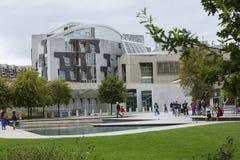 Costruzione scozzese del Parlamento, Edinburgh Fotografia Stock Libera da Diritti