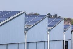 Costruzione solare degli schermi Fotografie Stock Libere da Diritti