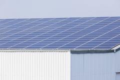 Costruzione solare degli schermi Immagini Stock Libere da Diritti