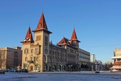 Costruzione storica del conservatorio a Saratov Un bello monumento di architettura Immagini Stock