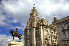 Costruzione storica del fegato a Liverpool Fotografie Stock Libere da Diritti