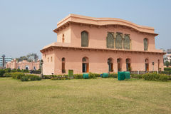 Costruzione storica del museo del mausoleo di Bibipari nella fortificazione di Lalbagh, Dacca, Bangladesh immagini stock libere da diritti