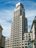 Costruzione storica della torre dell'ufficio a Anversa, Belgio Fotografie Stock Libere da Diritti