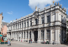 Costruzione storica di Bruges Belgio Fotografie Stock