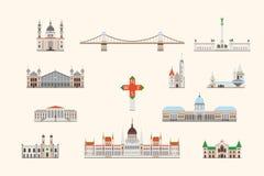 Costruzione storica di Budapest illustrazione vettoriale