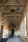 Costruzione storica di Palazzo BO a casa dell'università di Padova dal 1539 immagini stock libere da diritti