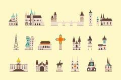 Costruzione storica di Praga illustrazione vettoriale