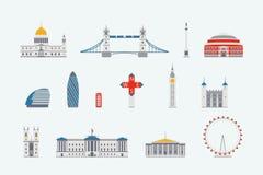 Costruzione storica e moderna di Londra illustrazione vettoriale