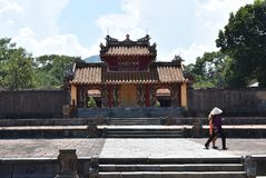 Costruzione storica vietnamita vicino alla città di Hanoi fotografia stock libera da diritti