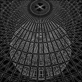 Costruzione strutturale del vettore della gabbia della clessidra Fotografia Stock Libera da Diritti