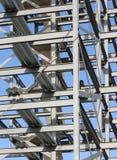 Costruzione strutturale dell'acciaieria Immagini Stock