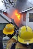 Costruzione sul fuoco Fotografie Stock