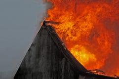 Costruzione sul fuoco Immagini Stock