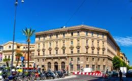 Costruzione sulla piazza Cavour a Roma Fotografia Stock