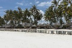 Costruzione sulla spiaggia di Zanzibar Immagine Stock Libera da Diritti