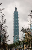 Costruzione in Taipei, Taiwan di Taipei 101 Fotografia Stock