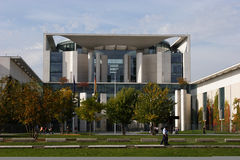 Costruzione tedesca Berlino della cancelleria Immagine Stock Libera da Diritti