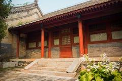 Costruzione in tempiale rosso della lumaca, Pechino, Cina immagini stock