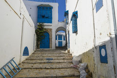 Costruzione tradizionale a Tunisi Fotografia Stock Libera da Diritti