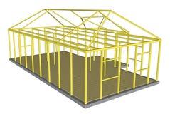 Costruzione trattata degli strumenti e dei materiali della costruzione Fotografie Stock