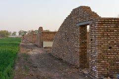 Costruzione in un villaggio Fotografie Stock Libere da Diritti