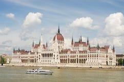 Costruzione ungherese del Parlamento Fotografie Stock Libere da Diritti