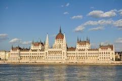 Costruzione ungherese del Parlamento Fotografie Stock