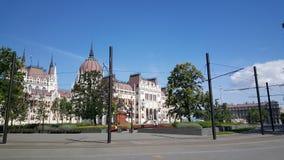 Costruzione ungherese del Parlamento immagine stock