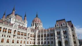 Costruzione ungherese del Parlamento immagini stock