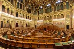 Costruzione ungherese del Parlamento a Budapest Fotografie Stock Libere da Diritti