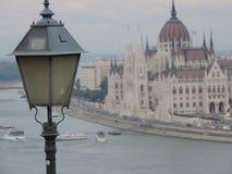 Costruzione ungherese del Parlamento a Budapest Immagine Stock