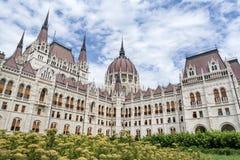 Costruzione ungherese del Parlamento, Budapest, Ungheria immagini stock libere da diritti
