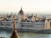 Costruzione ungherese del Parlamento, Budapest, Ungheria Fotografia Stock