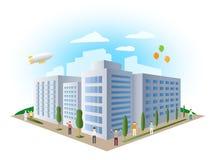 Costruzione urbana del paesaggio, vettore Fotografia Stock