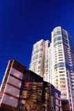Costruzione urbana di Ciao-tecnologia moderna Immagini Stock Libere da Diritti