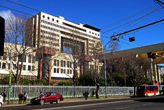 Costruzione in Valparaiso, Cile del congresso nazionale Fotografia Stock