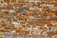 Costruzione variopinta della pietra della parete di massoneria Immagini Stock Libere da Diritti