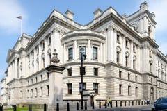 Costruzione Westminster Londra Inghilterra Regno Unito di Ministero del Tesoro immagine stock libera da diritti
