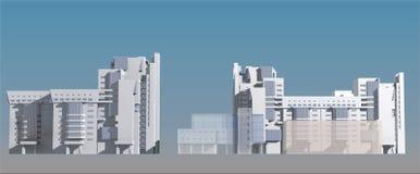 costruzioni 3D Immagine Stock Libera da Diritti