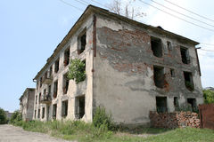 Costruzioni abbandonate Fotografia Stock Libera da Diritti