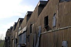 Costruzioni abbandonate della fabbrica Fotografie Stock