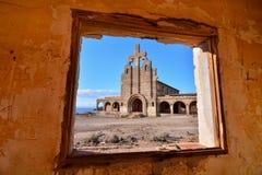 Costruzioni abbandonate di una base militare Fotografie Stock