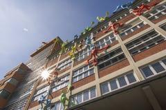 Costruzioni alla passeggiata del Reno di Dusseldorf immagini stock libere da diritti
