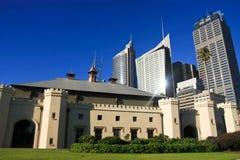 Costruzioni alte dei grattacieli della città di Sydney. Fotografia Stock